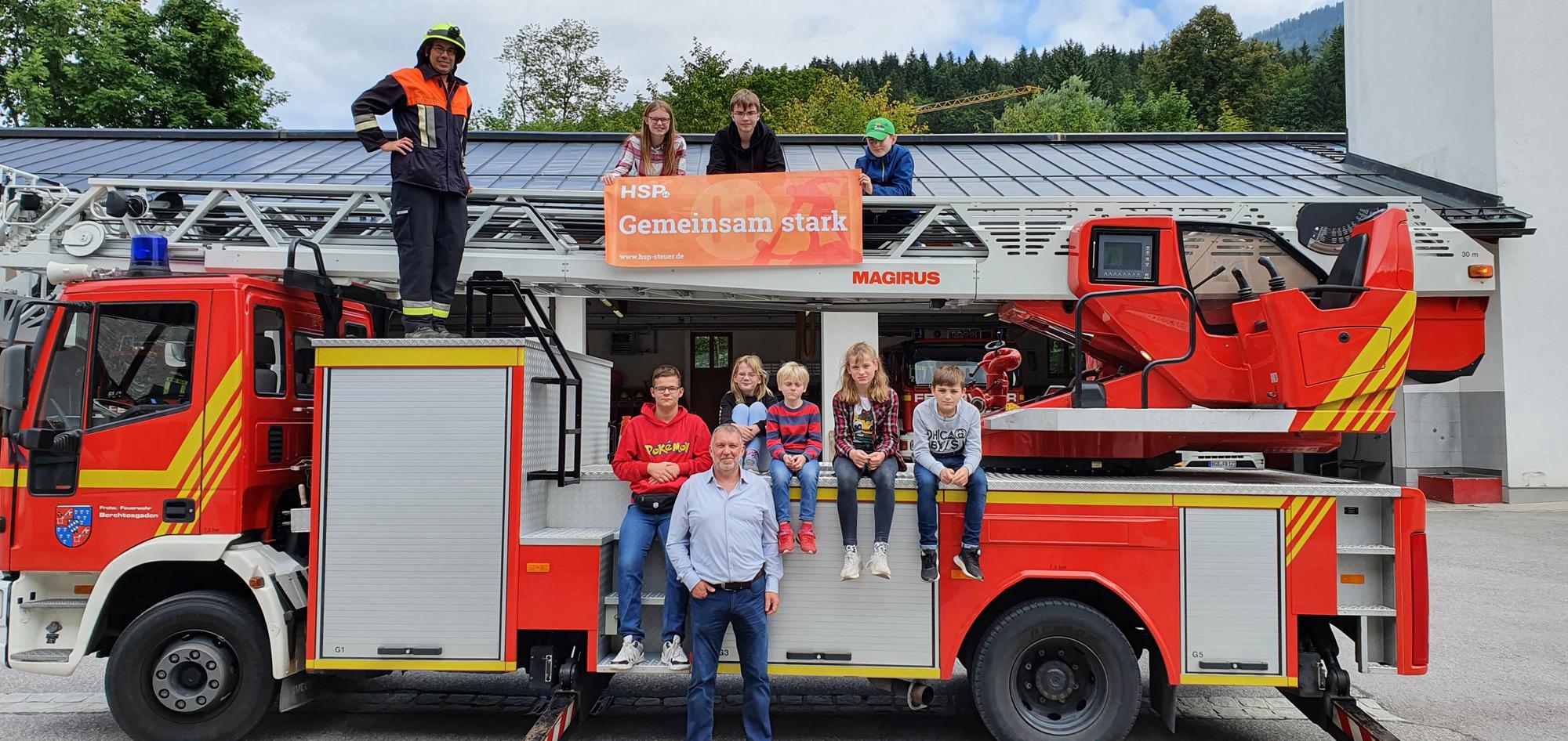 Haus am Bach: Besuch bei der Feuerwehr