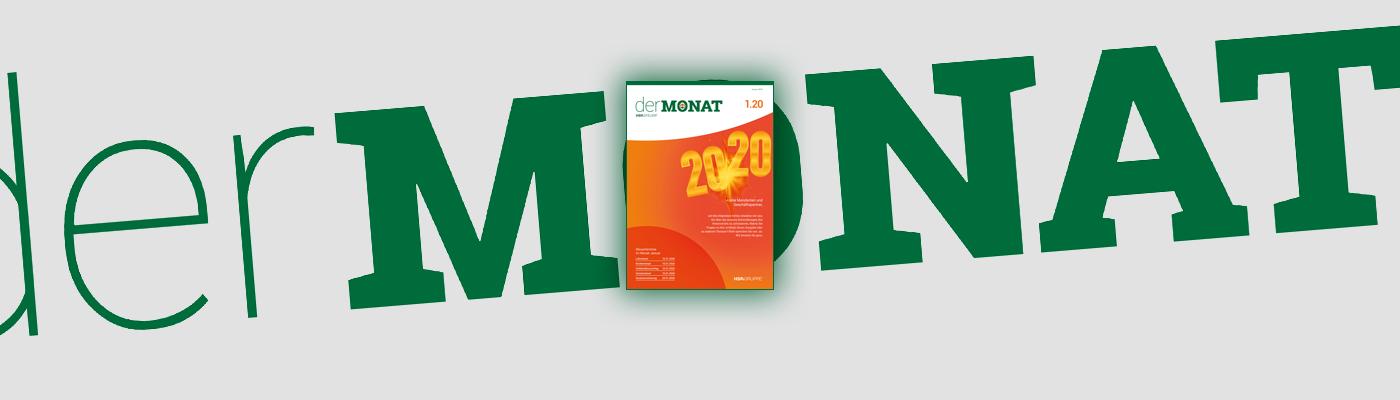 DER MONAT 01.2020 ist online