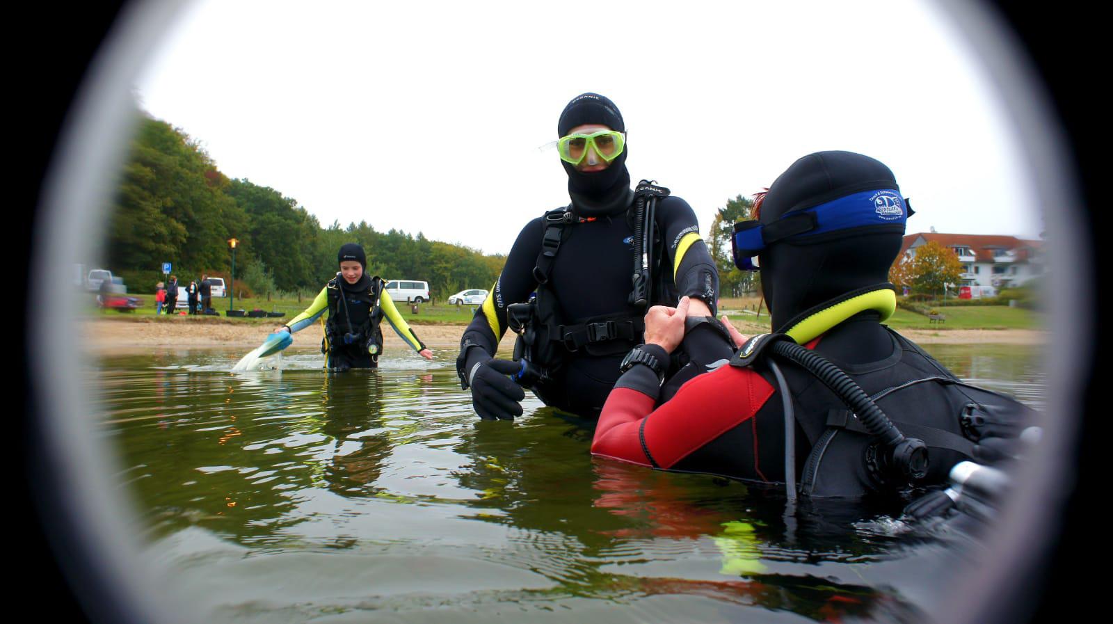 Gemeinsam stark: Tauchen in Plau am See